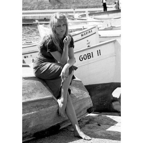 Affiche St Trop - Bardot - Dim: 50x70 cm