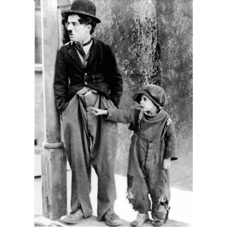 Carte du film Le Kid avec Charlie Chaplin - 10.5x15 cm
