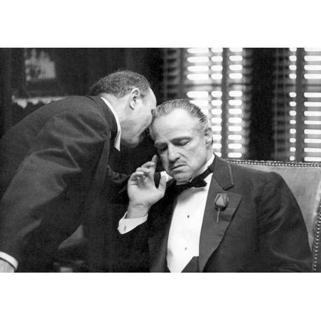Affiche Le Parrain - Marlo Brando - Dim: 50x70 cm