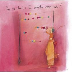 """Carte Anne-Sophie Rutsaert """"Pas de doute: Tu comptes pour moi!..."""" 14x14 cm"""