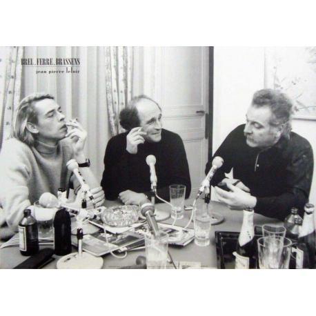 Affiche Brel Brassens Ferre - Émission Radio - Dim: 50x70 cm