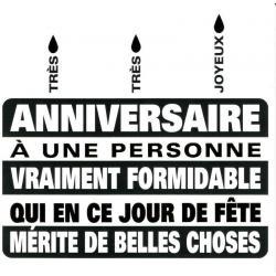 Carte Black and Gold - Très Très Joyeux anniversaire - 14.5x14.5 cm