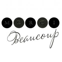 Carte Black and Gold - Merci beaucoup - 14.5x14.5 cm