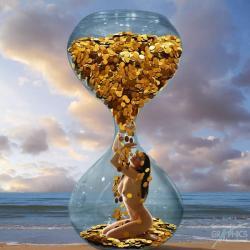 Carte Patrick le_Hech - Time is money - 14x14 cm