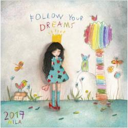 "Calendrier collector Mila 2017 ""Follow your dreams"" 16x16 cm"