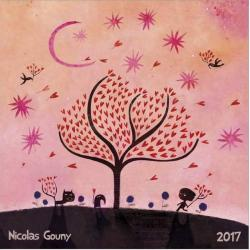 "Calendrier collector Nicolas Gouny 2017 ""L'arbre aux coeurs"" 16x16 cm"