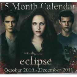 "Calendrier collector Twilight saga ""Eclipse"" 2011 filmé 30x30 cm"