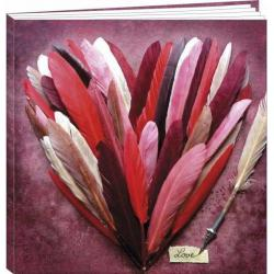 "Agenda 2017 Lali & MG ""Coeur rose en plumes"" 16.5 x 16 cm"