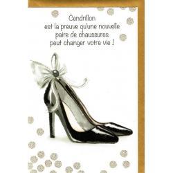 Carte Very Chic - Cendrillon est la preuve qu'une nouvelle ... - 12x17 cm