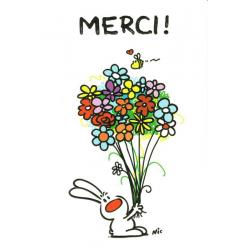 Carte Show lapin - Merci... - Carte merci