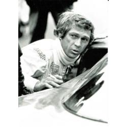 Carte Steve Mc Queen - Le Mans (Film 1971) - 10.5x15 cm