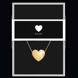 """Bracelet """"Cœur"""" Collection Black & Gold """"14 cm env. réglable"""