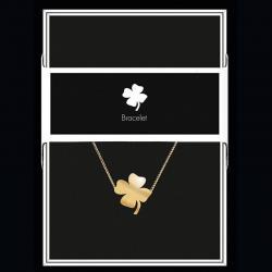 """Bracelet """"Trèfle"""" Collection Black & Gold """"14 cm env. réglable"""