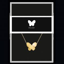 """Bracelet """"Papillon"""" Collection Black & Gold """"14 cm env. réglable"""