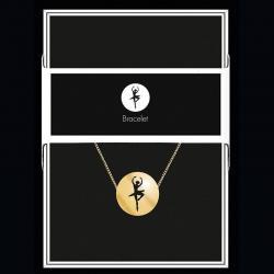 """Bracelet """"Danseuse"""" Collection Black & Gold """"14 cm env. réglable"""