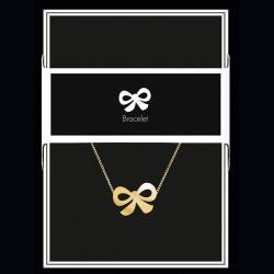 """Bracelet """"Nœud"""" Collection Black & Gold """"14 cm env. réglable"""
