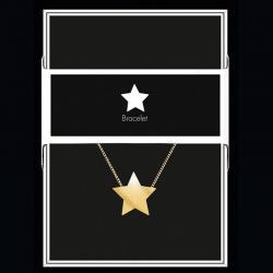 """Bracelet """"Etoile"""" Collection Black & Gold """"14 cm env. réglable"""