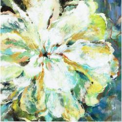 """Toile : """"Fleur abstrait pastel"""" 70x70 cm"""