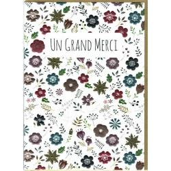 Carte double Sparkle - Un grand Merci - 12x17 cm