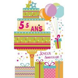 Carte âge ... Joyeux anniversaire - Pour ton anniversaire... - 11.5x18 cm
