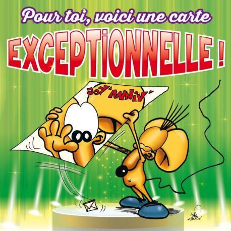 Carte Ze Souris - Pour toi, voici une carte EXCEPTIONNELLE... - 15x15 cm