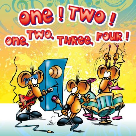 Carte Ze Souris - ONE! TWO! one two three... - 15x15 cm