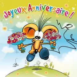 Carte Ze Souris - Joyeux anniversaire, avec plein... - 15x15 cm