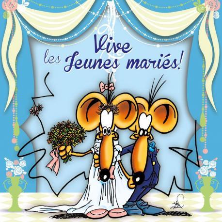 Carte Ze Souris - Vive les jeunes mariés!... - 15x15 cm