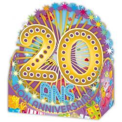 Carte Relief Petits Brins de Vie - 20 ans - BV02 - 10x10.5x5 cm