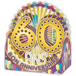 Carte Relief Petits Brins de Vie - 60 ans - 10x10.5x5 cm