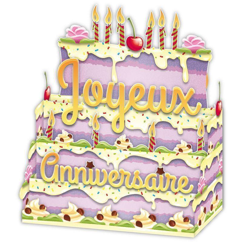 carte relief petits brins de vie - joyeux anniversaire bougies et