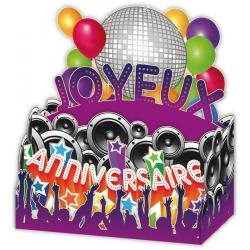 Carte Relief Petits Brins de Vie - Joyeux anniversaire La fête - 10x10.5x5 cm