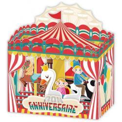 Carte Relief Petits Brins de Vie - Bon anniversaire Le manège - 10x10.5x5 cm