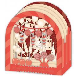 Carte 3D Petits Brins de Vie - Joyeux anniversaire Les cotillons - 10x10.5x5 cm