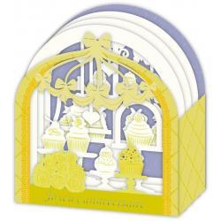 Carte Relief Petits Brins de Vie - Joyeux anniversaire Gourmandises - 10x10.5x5 cm