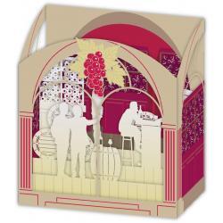 Carte 3D Petits Brins de Vie - Bar à vins - 10x10.5x5 cm