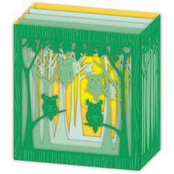 Carte 3D Petits Brins de Vie - Les chouettes - 10x10.5x5 cm