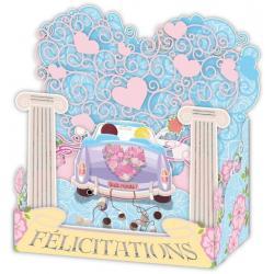 Carte 3D Petits Brins de Vie - Félicitaions mariage - 10x10.5x5 cm