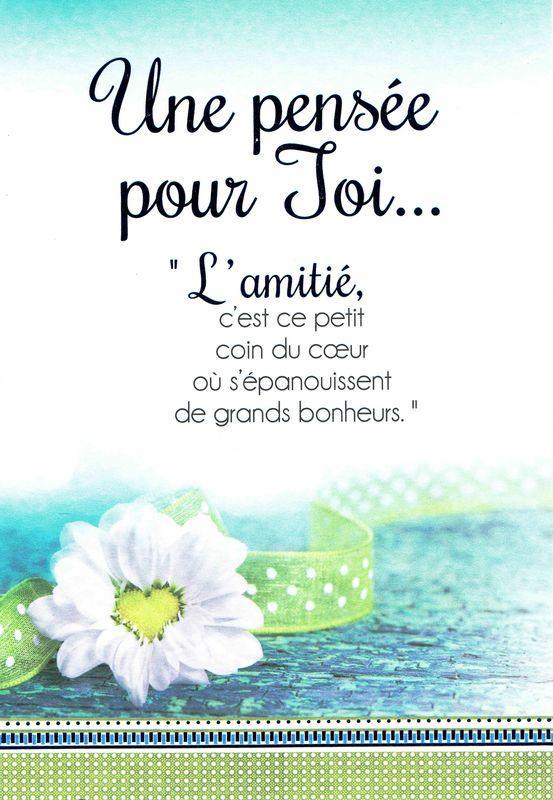 Carte Les Mots Du Bonheur Lamitié Cest Ce Petit Coin Du Coeur 118x17 Cm Planete Imagescom