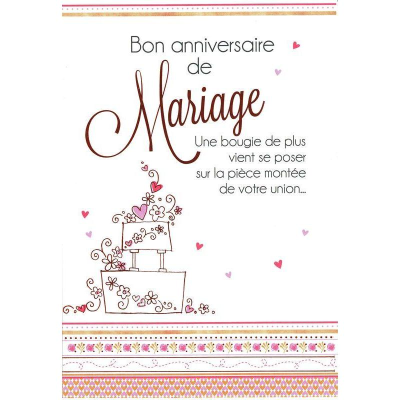 carte les mots du bonheur bon anniversaire de mariage cm planete. Black Bedroom Furniture Sets. Home Design Ideas