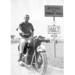 Affiche Steve Mc Queen - La Grande Evasion - moto - Dim: 50x70 cm