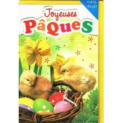Carte Joyeuses Pâques - Oeufs et petits poussins II... - 11.5x17.3 cm
