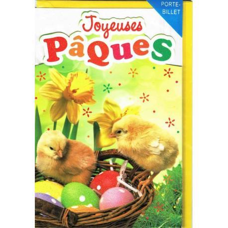 Carte Joyeuses Pâques - Oeufs et petits poussins II... - 11.8x17 cm