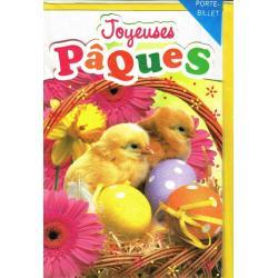 Carte Joyeuses Pâques - Oeufs et petits poussins... - 11.5x17.3 cm