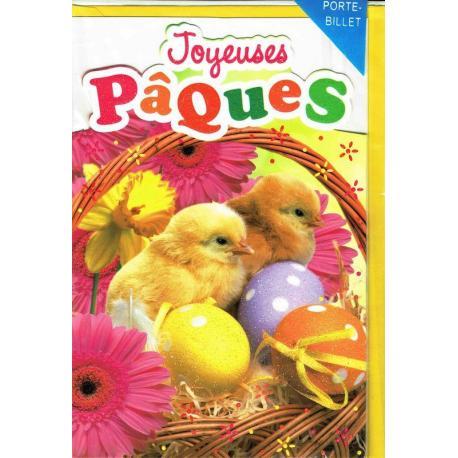 Carte Joyeuses Pâques - Oeufs et petits poussins... - 11.8x17 cm