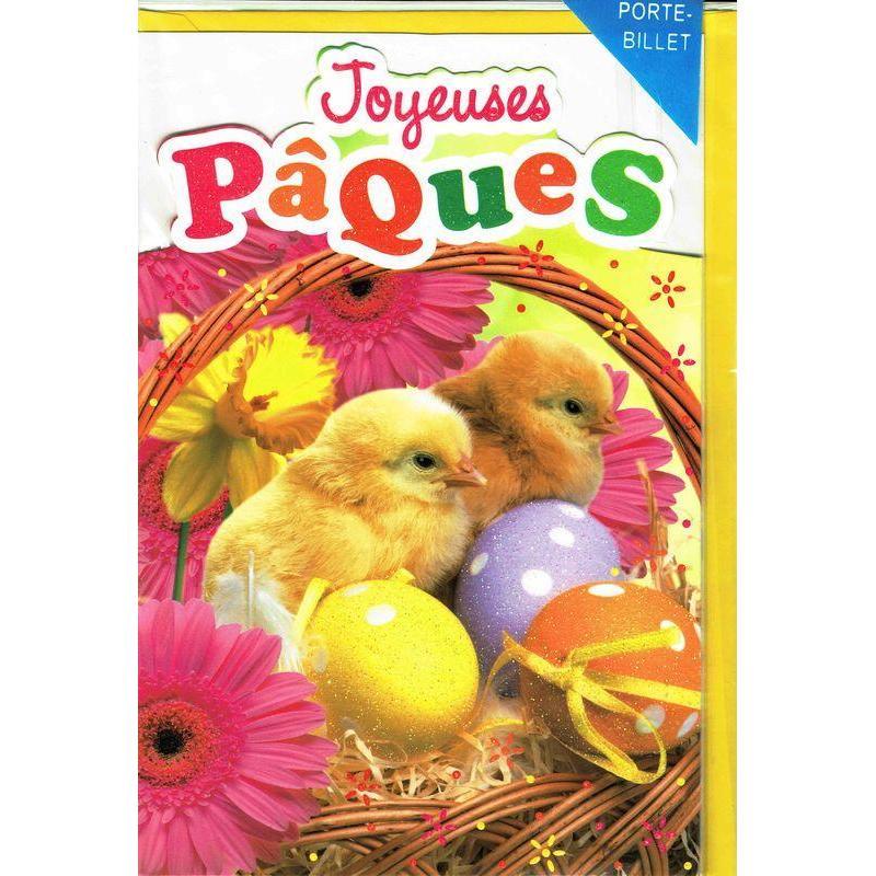 Carte joyeuses p ques oeufs et petits poussins cm planete - Carte joyeuses paques ...