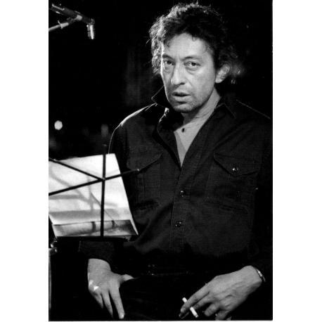 Carte Serge Gainsbourg - 10.5x15 cm