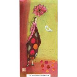 Carte Gaëlle Boissonnard 2017 - La grande fleur - 10.5x21 cm