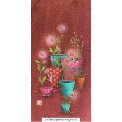 Carte Gaëlle Boissonnard 2017 - Les pots de fleurs - 10.5x21 cm