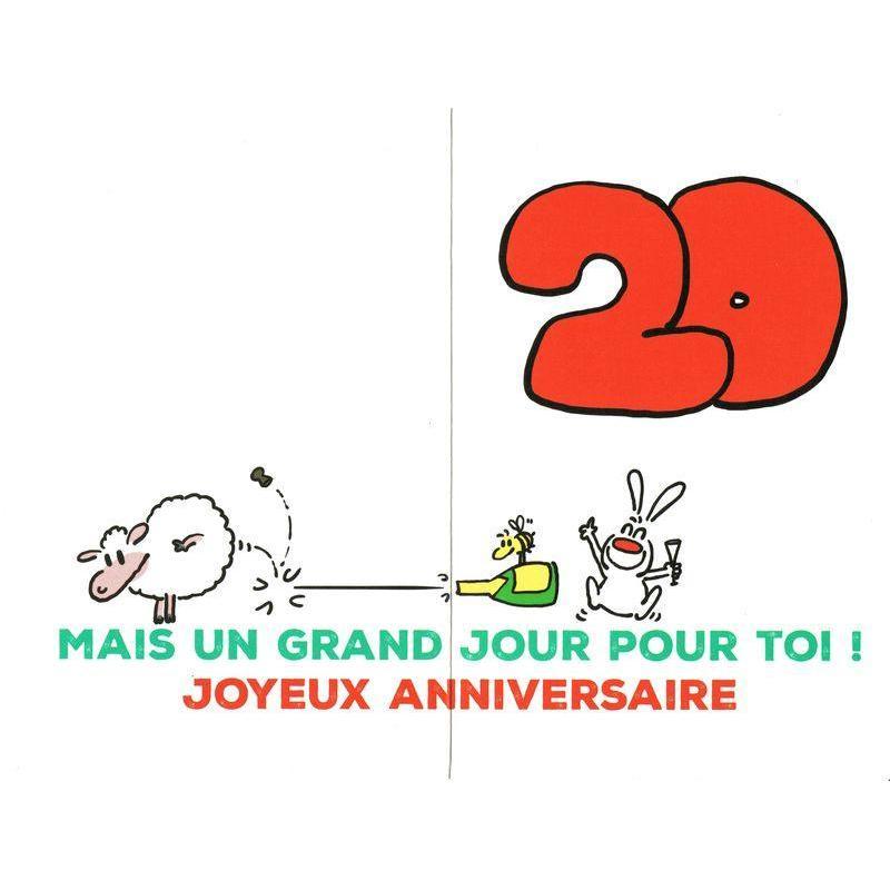 Carte Show Lapin 20 Ans Un Petit Jour Pour L Humanite Carte